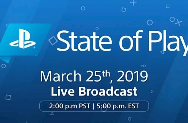 Sony will stream a PlayStation news event on March 25th