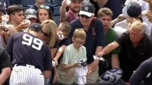 Young Yankees fan has priceless reaction to getting Aaron Judge's autograph
