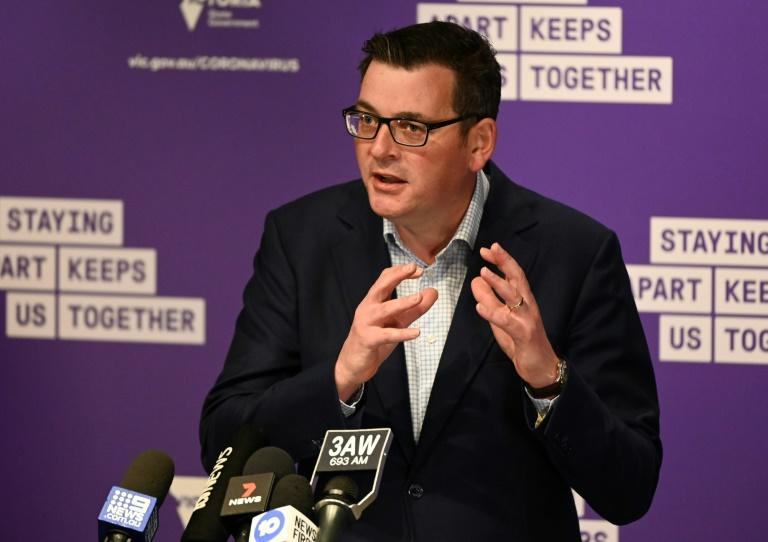 "Victoria's state premier Daniel Andrews said ""the time for leniency, the time for warnings and cautions is over"" (AFP Photo/William WEST)"