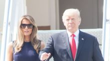 Melania Trump 'trapped' in hotel by G20 riots in Germany