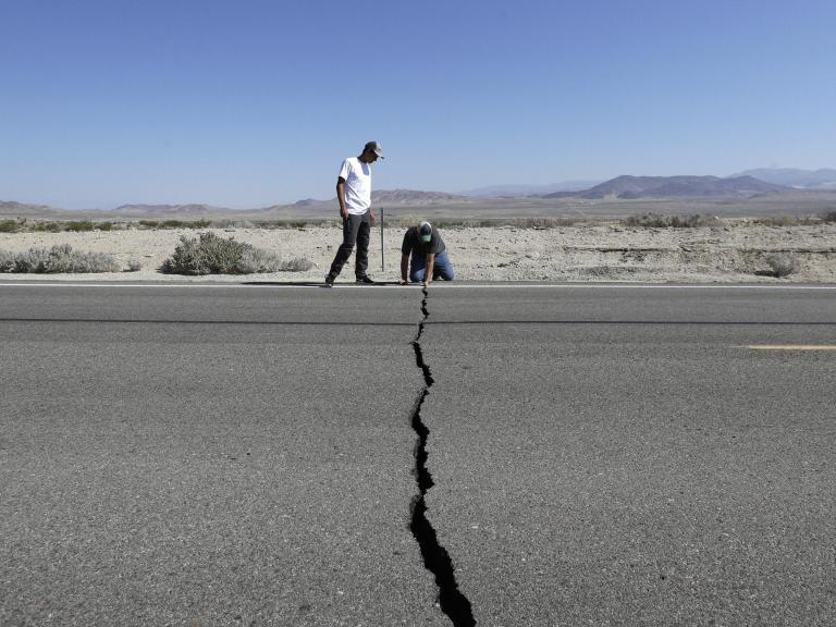 """Up to 30,000 aftershocks could hit California in the next six months after the US state was hit by two major earthquakes in 48 hours last week, seismologists have warned. They were part of a continuing sequence of tremors that would affect the area for months, said Lucy Jones, of the California Institute of Technology and said the earthquakes. The region could see more than 30,000 minor earthquakes over six months, with one or two magnitude 6 quakes expected, her colleague and fellow seismologist Egill Hauksson, added. Up to 190 magnitude 3 earthquakes could take place over the next week alone, with a 12 per cent probability of a magnitude 6 earthquake, according to the US Geological Survey (USGS).Magnitude 3 earthquakes are big enough to be felt and any earthquake over magnitude 4 is big enough to cause damage to buildings.""""It is a wake-up call for the rest of the state and other parts of the nation, frankly,"""" California Governor Gavin Newsom said, voicing concerns about the possibility of major aftershocks in the months to come. He said that residents should make sure they know how to respond if more natural disasters strike.Friday's evening's earthquake was the largest one Southern California in nearly 20 years. Centred 11 miles from Ridgecrest, a small town with around 28,000 residents it struck the same area of the desert where a 6.4-magnitude temblor hit on ThursdayThe earthquake was felt by millions across an area ranging from Sacramento, the state capital in the north, to Mexico and including the Las Vegas and Los Angeles counties.It came off the back of hundreds of """"foreshocks"""" that rattled the region late last month. Those left behind cracked and burning buildings, broken roads, obstructed railroad tracks and leaking water and gas lines and prompted the evacuation of the US Navy's largest single landholding, the Naval Air Weapons Station China Lake in the Mohave Desert.Only a few injuries were reported, but two houses were reported to have caught fire from"""