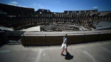 Few tourists -- but no gladiators -- at Rome's Colosseum