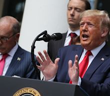 Trump claims that only 'left wing' policies will derail U.S. recovery as he celebrates return of jobs