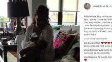 Lolita no podría ser 'más feliz' cuando ejerce de niñera de su nieto Noah