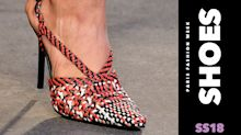 From plastic PVC boots to platform Crocs, all the wildest shoes from Fashion Week