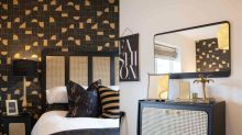 Three-bedroom house given chic sustainable makeover with budget charity shop buys