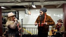 Alanis Morissette and Jimmy Fallon Go Busking in Disguise at New York City Subway Station