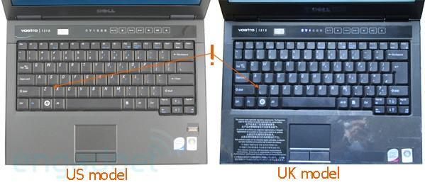 Dell's Vostro 1310 keyboard putting the hurt on UK touch typists?
