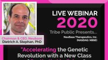"""NeuBase Therapeutics' CEO, Dietrich A. Stephan, Ph.D., to Present """"Accelerating the Genetic Revolution with a New Class of Synthetic Medicines"""" at Tribe Public's Event on December 22, 2020"""