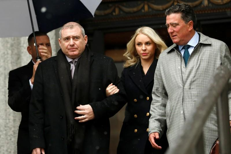 Ukrainian-American businessman Lev Parnas and his wife Svetlana arrive at United States Courthouse in Manhattan