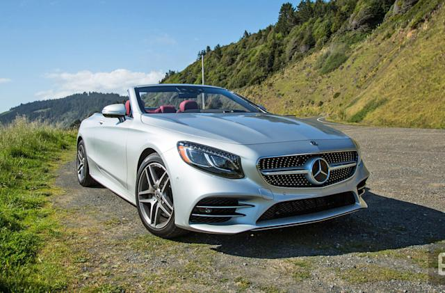 Here maps helps the Mercedes S560 tackle sharp corners
