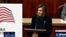 Nancy Pelosi Wears Power Brooch For Trump's Impeachment Proceedings