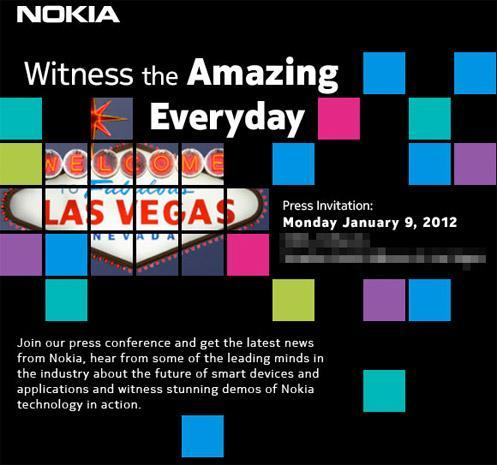 Nokia reveals CES 2012 press event, Windows Phone the obvious focal point