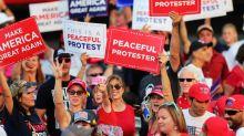 Trump fumes over Biden ad, media coverage at Nevada rally