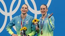 Olympic organizers apologize after announcing Ukrainian artistic swimming medalists as Russians