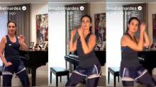 """Fátima Bernardes faz aula de dança em live: """"Se solta, aproveita"""""""