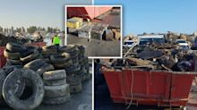 Shocking photos reveal the extent of waste in Perth harbour