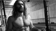 Jason Momoa Celebrates 'Justice League' Wrap at the Gym