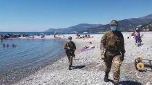 Contro il coronavirus, l'Esercito scende in spiaggia