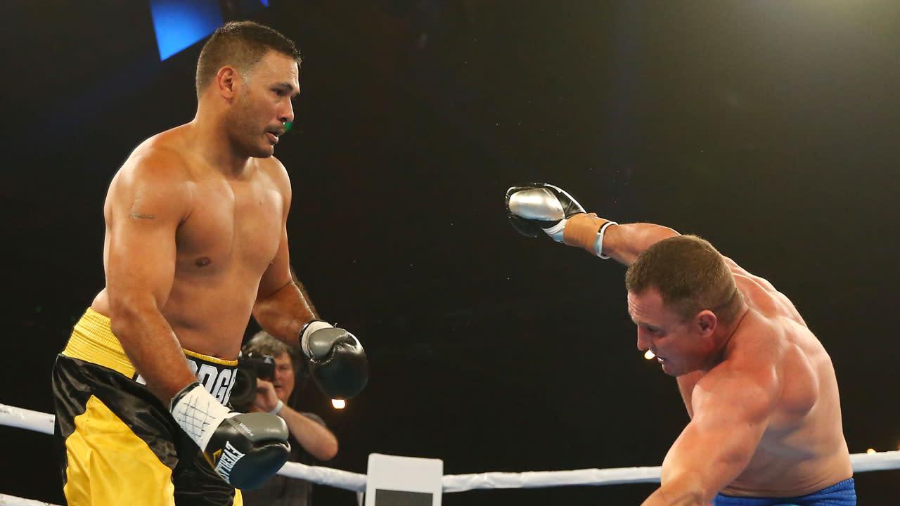 Paul Gallen knocks out John Hopoate in second round