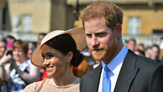 Newly married royal couple makes 1st public appearance