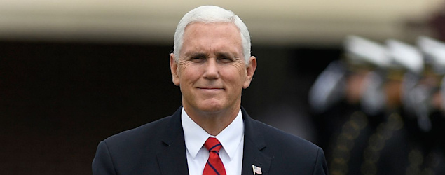 Pence's simple, yet telling, response to anthem decision. (AP)
