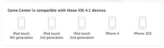 Confirmed: Game Center for 2nd gen iPod touch, not iPhone 3G