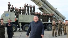 Kim Jong-un watches as North Korea tests new 'super-large multiple rocket launcher'