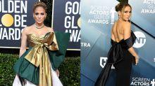 Jennifer Lopez aposta em laços gigantes nos tapetes vermelhos