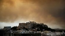 """Greek residents told """"just leave"""" as wildfire rages near Athens"""