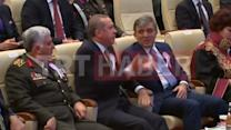 Turkey's Erdogan heckles lawyer's speech, storms out