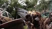 Crews continue to clean up following storms