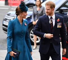 What feud? Duchess Kate joins Prince Harry at church service