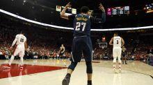 NBA-Profi Jamal Murray mit irrem Treffer von hinter dem Korb