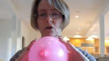 Viral 'birth' video using balloon praised for its realistic portrayal of labour