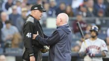 ALCS Game 3: Yankees-Astros delayed 15 minutes after umpire suffers concussion