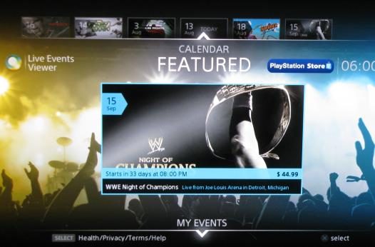 PS3 gets pay-per-view streaming with Live Events Viewer app