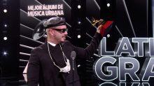 J Balvin le gana a Bad Bunny en los Latin Grammy y le llueven críticas en Twitter