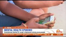 Smartphones blamed for surge in depression and anxiety among young people