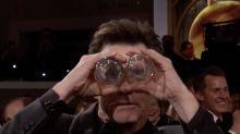 Fans go crazy for Jim Carrey's Golden Globes skit