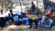 """VIDÉO. """"Qu'on sauve l'âme de ces enfants !"""" : le chaos après l'incendie du camp de réfugiés de Moria, en Grèce"""