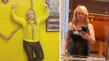 Rebel Wilson shows off weight loss transformation in leather catsuit
