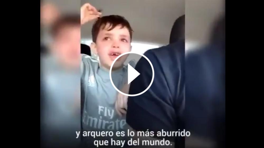 """VÍDEO: """"¡Un gol de caño me metieron!"""" - El niño madridista no quiere ser portero"""