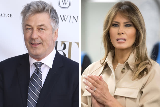 """Alec Baldwin Invites Melania Trump To """"Come Over To The Light"""" And Join Him On 'SNL'"""