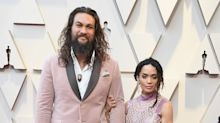 Jason Momoa rocks a pink velvet tux to the Oscars with Lisa Bonet: 'Finally, times are changing'