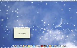 Get some holiday snow on your computer screen