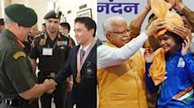 In Pics: Army, Governments Celebrate India's CWG Stars on Return