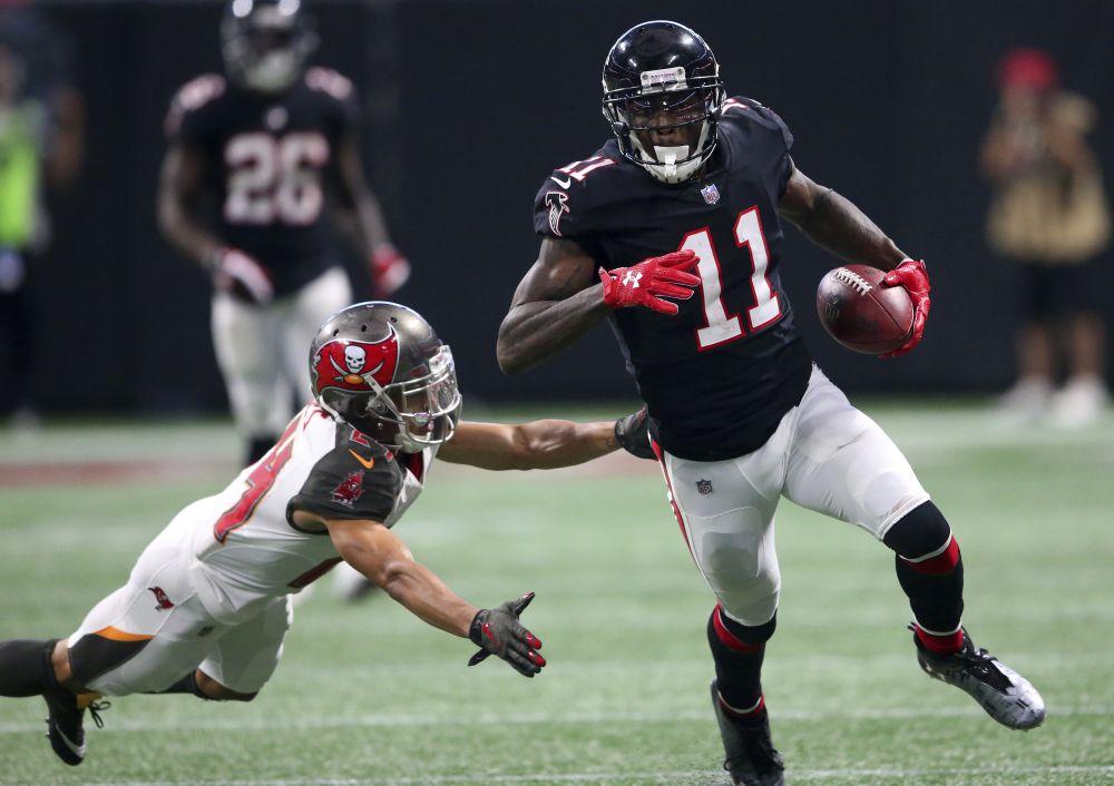 Atlanta Falcons wide receiver Julio Jones is coming off a big game against the Buccaneers. (AP)