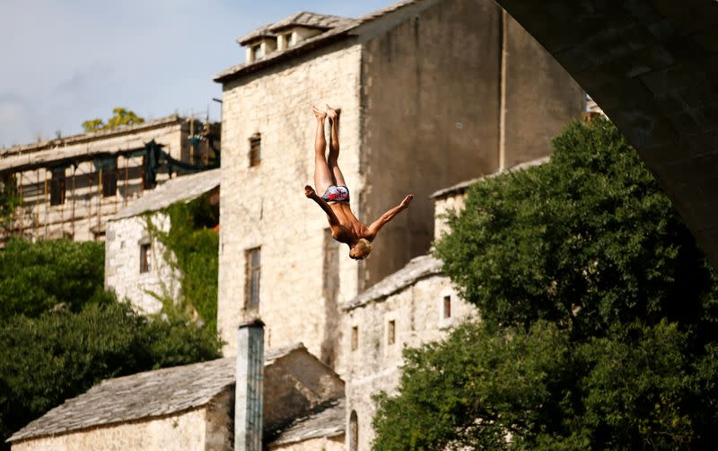 454th traditional diving competition in Mostar