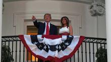 """Lors de son discours du 4-Juillet, Trump fustige """"la gauche radicale"""", les médias et la Chine"""